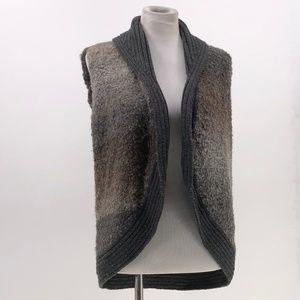 woolrich womens wool blend vest open front sz M